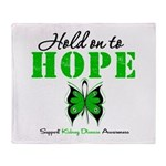 Kidney Disease Hold On To Hop Throw Blanket