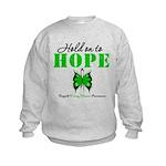 Kidney Disease Hold On To Hop Kids Sweatshirt