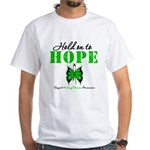 Kidney Disease Hold On To Hop White T-Shirt