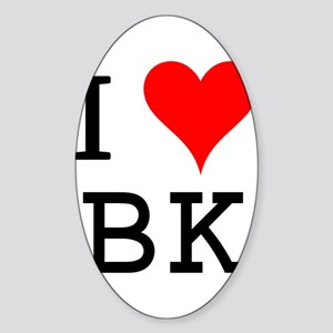 I Love BK Rectangle Sticker