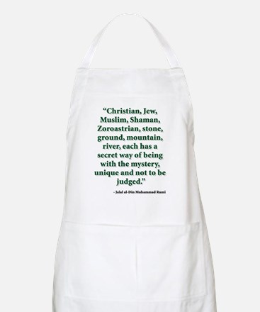 Rumi Religion Quote Apron
