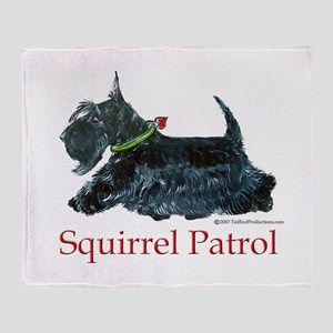Scottie Squirrel Patrol Throw Blanket