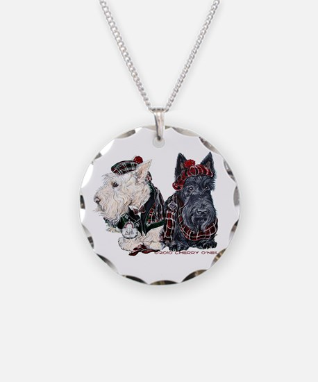 Scottish Highland Terriers Necklace