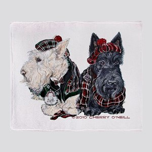 Scottish Highland Terriers Throw Blanket