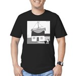 Gerald's Ship (no text) Men's Fitted T-Shirt (dark