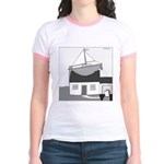 Gerald's Ship (no text) Jr. Ringer T-Shirt