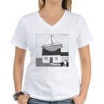 Gerald's Ship (no text) Women's V-Neck T-Shirt