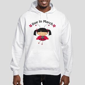 Cute March Pregnancy Hooded Sweatshirt