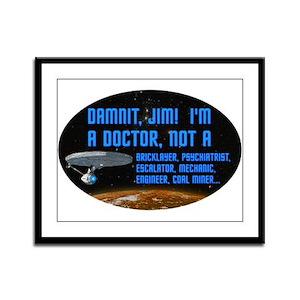 ST: Doctor Framed Panel Print