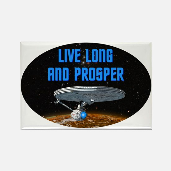 ST: Live Long Rectangle Magnet (10 pack)