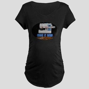 ST: Make It Sew Maternity Dark T-Shirt