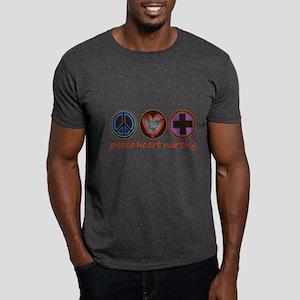PEACE HEART NURSING Dark T-Shirt