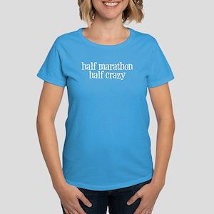 half marathon half crazy m Women's Dark T-Shirt