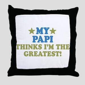 My Papi Throw Pillow