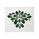 Green Man Throw Blanket