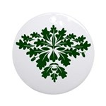 Green Man Ornament (Round)