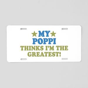 My Poppi Aluminum License Plate