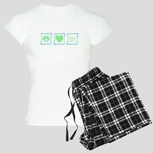 Peace, Love and Pacifiers squ Women's Light Pajama