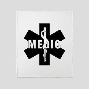 Medic EMS Star Of Life Throw Blanket