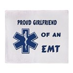 EMT Girlfriend Throw Blanket