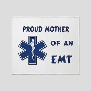 Proud Mother of an EMT Throw Blanket