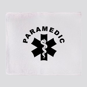 Paramedic Star Of Life Throw Blanket