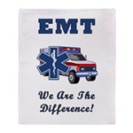 EMT We Are The Difference Throw Blanket
