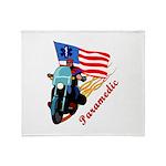 Paramedic Biker Throw Blanket
