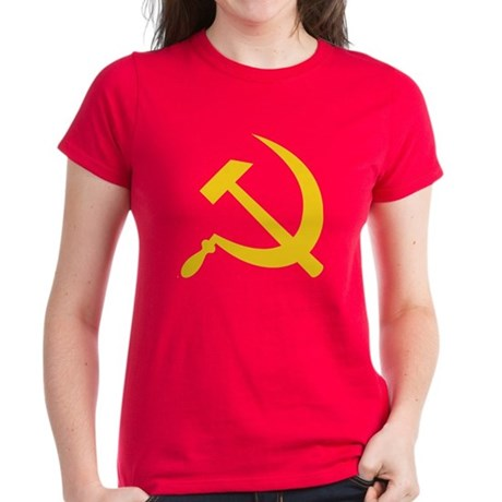 USSR Hammer & Sickle Women's Dark T-Shirt