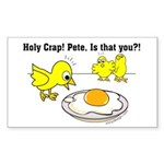 Holy Crap! Pete, is that you? Sticker (Rectangle 1