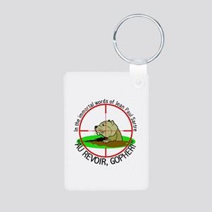 CS: Gopher Aluminum Photo Keychain