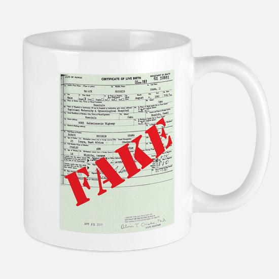 Cute Obama birth certificate Mug