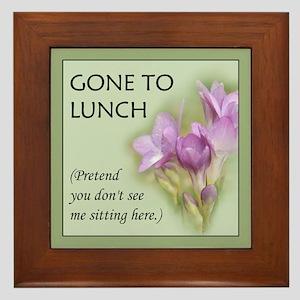 Gone to Lunch... Framed Tile