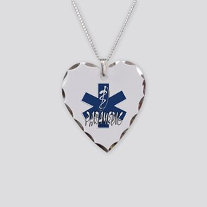 Paramedic Action Necklace Heart Charm