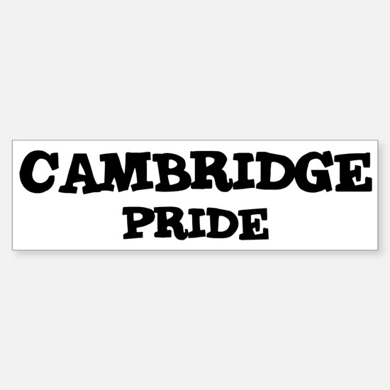 Cambridge Pride Bumper Bumper Bumper Sticker