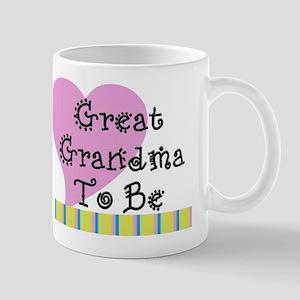 Great Grandma To Be Stripes Mug