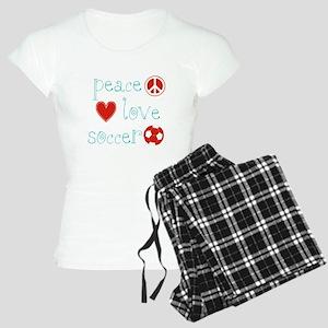 Peace, Love and soccer Women's Light Pajamas