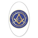 Golden Rule Lodge Sticker (Oval 10 pk)