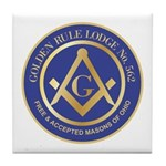 Golden Rule Lodge Tile Coaster