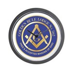 Golden Rule Lodge Wall Clock