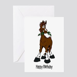Funny Horse Mom Greeting Cards