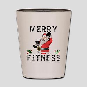 Merry Fitness Santa Shot Glass