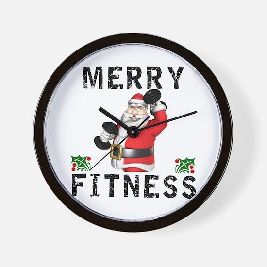 Merry Fitness Santa Wall Clock