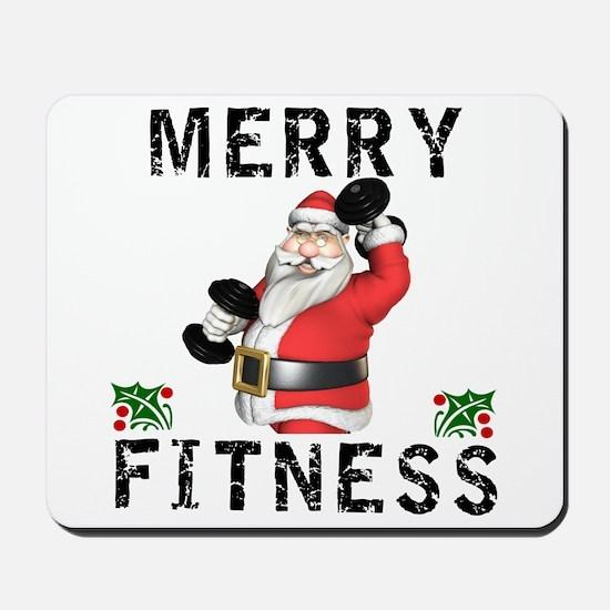 Merry Fitness Santa Mousepad