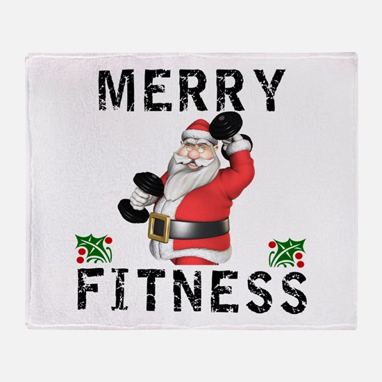 Merry Fitness Santa Throw Blanket