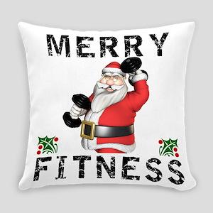 Merry Fitness Santa Everyday Pillow