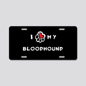 I *heart* My Bloodhound Aluminum License Plate