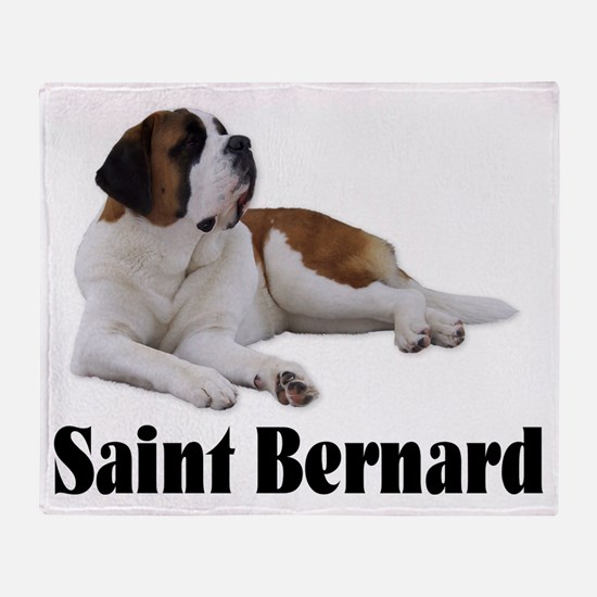 Saint Bernard Throw Blanket