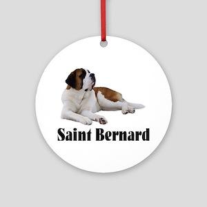Saint Bernard Ornament (Round)