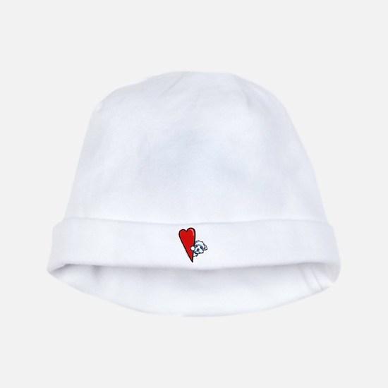 Maltese Lover baby hat